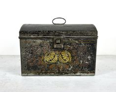 Antique Tin Box~Fabulous Decorating Piece, and Double Function as Storage for Remotes