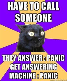 Anxiety Cat-option 3: don't leave a message...they will never know.