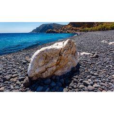 Mavra Volia beach in Chios island.