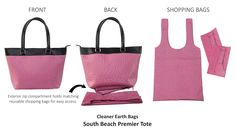 88adc3b6b1 The Paris Premier Tote with matching reusable shopping bags from Cleaner  Earth Bags.
