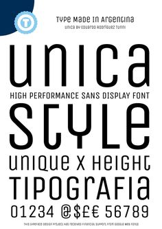 Sample image of Unica One font by Eduardo Tunni