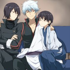 Gintama, older shinpachi gintoki and young shinpachi
