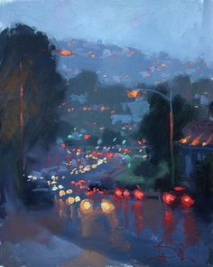 Annual Laguna Beach Plein Air Invitational, Jennifer Diehl, Laguna Lights b. - Annual Laguna Beach Plein Air Invitational, Jennifer Diehl, Laguna Lights by Jennifer Diehl Oil - Art Inspo, Painting Inspiration, Bel Art, Arte Indie, Art Et Illustration, Art Design, Pretty Art, Aesthetic Art, Aesthetic Drawing