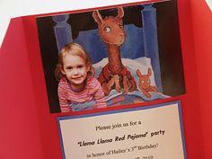 3 - 6 and under: Llama llama bragging mama# Invitations, Invite, Llama Llama, This Or That Questions, Birthday, Party, School, Fiesta Party, Parties