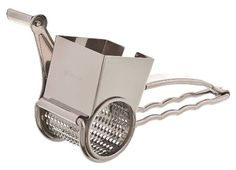 Browne Foodservice 746586 Stainless Steel Jumbo Rotary Cheese Grater, 9-Inch  customer says can use for herbs(??)