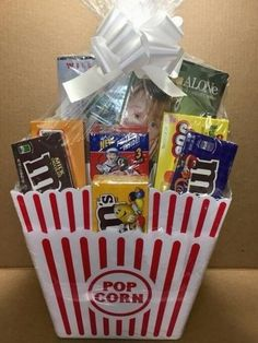 Cheap Gift Baskets, Family Gift Baskets, Homemade Gift Baskets, Gift Baskets For Men, Movie Basket Gift, Movie Night Gift Basket, Fundraiser Baskets, Raffle Baskets, Raffle Gift Basket Ideas