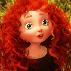 *MERIDA ~ Brave, 2012...Our red curly haired, blue eyed first Pizar/Disney princess
