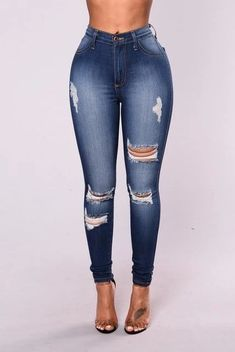 2018 New jeans woman ripped Stretch cotton high waist jeans Casualeavengifts 2018 New Jeans Frau zerrissen Stretch Baumwolle hohe Taille Jeans Casualeavengifts Ripped Jeggings, Ripped Knee Jeans, High Waisted Distressed Jeans, Ripped Skinny Jeans, High Waist Jeans, Destroyed Jeans, Ankle Jeans, Plus Size Jeans, Crop Top Outfits