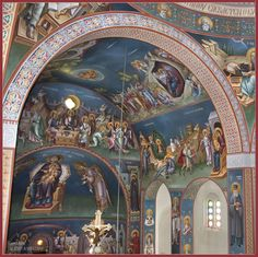 Michael ALEVYZAKIS was born in Rethymno, Crete, in has been involved in painting since with F. Altar, Byzantine Architecture, Church Interior, Byzantine Icons, Wall Drawing, Cathedral Church, Orthodox Icons, Christ, Pet Birds