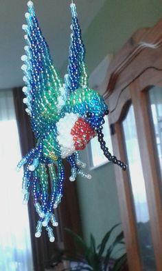 Kolibrie gemaakt van kralen