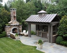 outdoor kitchen for bbq's