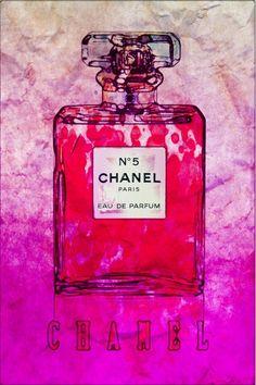 Chanel-No5 Abstract Poster Original Fashion Art Print   eBay