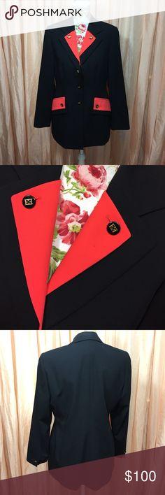 Vintage Escada blazer In excellent vintage condition black and red Blazer. Escada Jackets & Coats Blazers