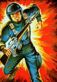 Grunt (Robert W. Graves) - GI Joe; born in Columbus, Ohio, he graduated from Advanced Infantry Training in the top 10 of his class. Grunt's primary military specialty is infantry & his secondary military specialties are as a small-arms armorer & artillery coordinator. he eventually left the Joe Team, to get his engineering degree at the Georgia Institute of Tech where he met Lola, who he later married, & the 2 have a young daughter.