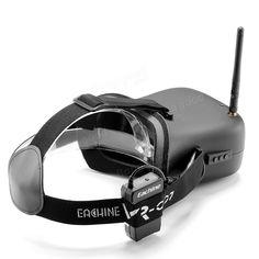 Eachine VR-007 VR007 5.8G 40CH HD FPV Goggles Video Glasses 4.3 Inch With 7.4V 1600mAh Battery Sale - Banggood.com