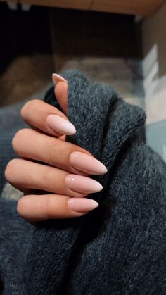 Almond nails for the winter; Nails for . - Almond nails for the winter; Nails for … Check more at Almond Nail Art, Almond Acrylic Nails, Fall Almond Nails, Long Almond Nails, Natural Almond Nails, Almond Shape Nails, Autumn Nails Acrylic, White Tip Acrylic Nails, Almond Nails Pink