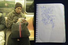 Poems by New Yorkers is an inspiring new website, with a new poem published each day from the most surprising sources: random commuters on the NYC subways.