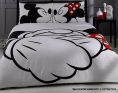6211992427 Edredom Mickey e Minie tamanho casal 100 % microfibra Edredom + o par de  fronha Preços