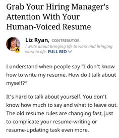 how to write your human voiced resume job search