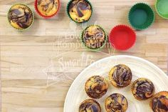 Himmlisch lockere leckere Low-Carb Marmorkuchen-Muffins :) Brownies, Breakfast, Healthy, Recipes, Food, Chef Recipes, Bakken, Cake Brownies, Morning Coffee