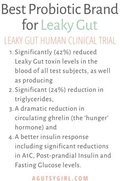 Best Probiotic Brand for Leaky Gut - A Gutsy Girl Best Probiotic Brands, Leaky Gut Diet, Cafeteria Food, Leaky Gut Syndrome, Gut Microbiome, Adrenal Fatigue, Gut Health, Natural Healing, Healthy Lifestyle
