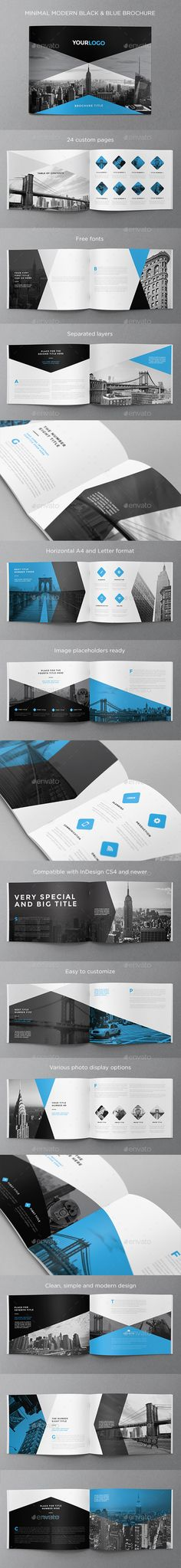 Fully customizable professional template for a brochure. Web Design, Layout Design, Print Layout, Design Brochure, Booklet Design, Brochure Layout, Branding Design, Brochure Template, Brochure Inspiration