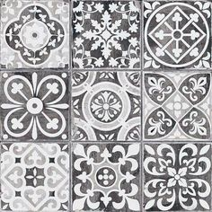 black pattern decor tile Faenza N 330x330mm ideal for renovations and used as kitchen wall tiles, floor tiles , bathroom floors , bathroom walls. #decobella #patterntiles #decortiles #blacktiles #tileideas #tiletrends #kitchentiles #bathroomtiles #featu