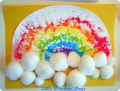 Rainbow Shaving Cream Painting
