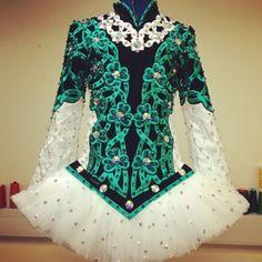 Another Celtic Star Irish Dance Dress. Love the shamrocks