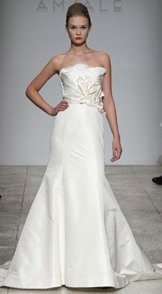 i'm so drawn to the amsale gown because i love pleating, folding, etc... it's like oragami on a dress:)