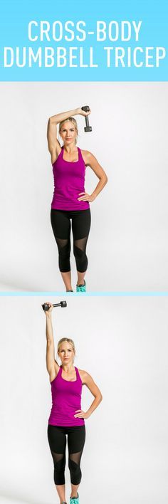 Cross-Body Dumbbell Tricep #freeweights #idealshape