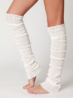 I didn't think I would ever be tempted to buy legwarmers...but with a pair of tall boots these would be perfect.