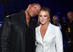 Pin for Later: The 19 Best Pictures From the MTV Movie Awards Dwayne Johnson and Amy Schumer Behind the Scenes