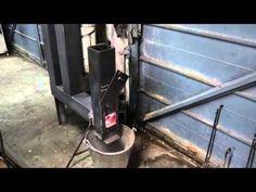 DIY rocket stove wood pellet space heater MK3 - YouTube