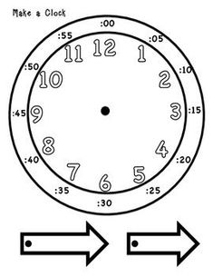 Common Core standard:  CC.2.MD.7  This clock is a great way for students to learn how to tell time.  They can color in each hand to identify the hour hand from the minute hand. Print this out on cardstock and put it together to allow students to have their own hands on clock to use in class or at home.