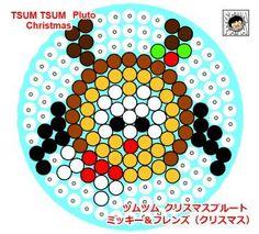 tsum tsum perler beads Christmas Pluto