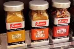 Gourmet Condiments on Packaging of the World - Creative Package Design Gallery Spices Packaging, Types Of Packaging, Brand Packaging, Home Interior Design, Modern Interior, Modern Decor, Madras Curry, Spice Labels, Packaging Design Inspiration