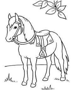 free printable horse coloring pages for kids - Kids Printable Pictures