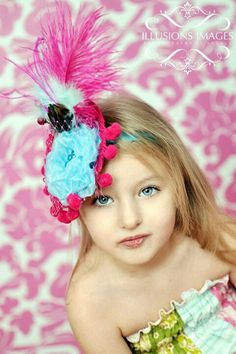 France Inspires Teal and Hot Pink Hat by AdornedCreations on Etsy, $29.99