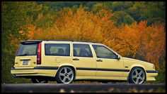"Volvo 850 T5-R wagon, mine is platinum silver, not actually an ""R"" but runs circles around the average mid-90's grocery-getters. And still won't die after 16 years."