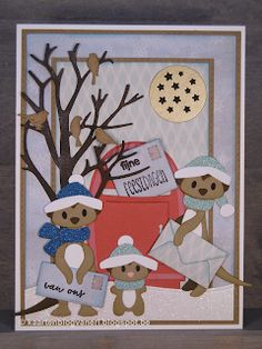 Marianne Design, Cardmaking, Card Ideas, Stamp, Holiday Decor, Winter, How To Make, Christmas, Cards