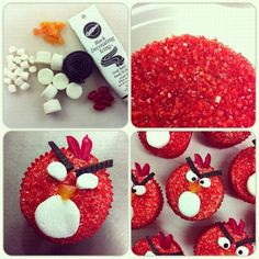 What cute Angry Bird Cupcakes!