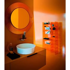 A collaboration by Kartell and Milan based designers Ludovica + Roberto Palomba. Kartell By Laufen - Laufen North America Laufen Bathroom, Bathroom Sets, Small Bathroom, Round Wall Mirror, Round Mirrors, Spiegel Design, Bathroom Gallery, Complete Bathrooms, Bad Inspiration