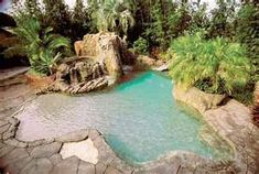 tropical backyard landscape ideas with pool