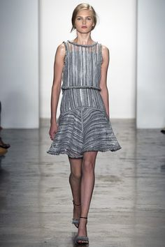 Jonathan Simkhai | Spring 2016 Ready-to-Wear | 07 Monochrome checkered sleeveless mini dress