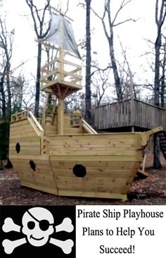 In these trying economic times, it was nice to find playhouse construction plans that met my needs and didn't break the bank. Buying a pirate play ship this large from a store would have cost a lot of money. Of course, you can't get them off a store! You will have to hire someone to build one and that would've been very expensive too. Follow the visit link to learn more about the plans.
