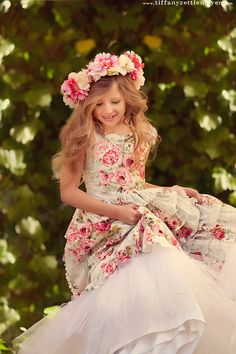 Gorgeous dresses for little ladies!   Special Occasion Little Girls Dress In Ruffles by vintageprecious, $352.00
