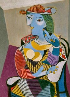 Pablo Picasso (Spanish, 1881-1973) | Seated Woman ((Marie-Therese), 1937