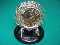 Vintage 1970s rare crystal desk table clock Majak - made in USSR
