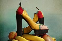 """Eat more fruits! """"Banana is my business"""" von Charlotte Olympia"""